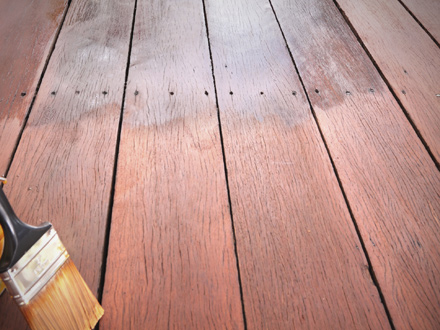 Inspectin and Staining a Wood Deck