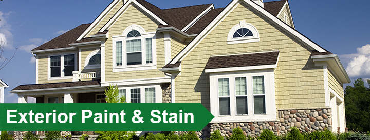 exterior paint stain at menards