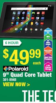 """6 HOUR SALE: Polaroid 9"""" Quad Core Tablet"""