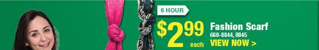 6 HOUR SALE: Fashion Scarf