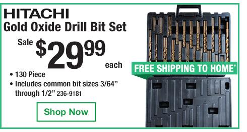 Hitachi Drill Bit Set