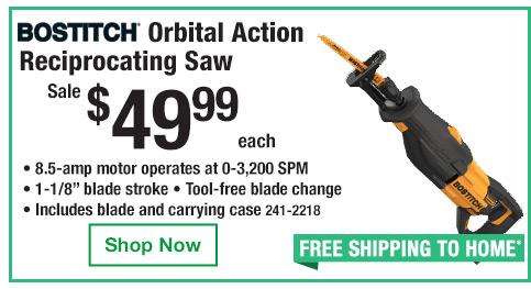 Bostitch Orbital Reciprocating Saw