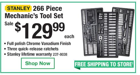 Stanley 266 Piece Mechanic's Tool Set