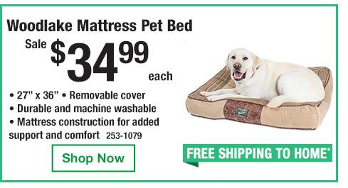 Woodlake Mattress Pet Bed