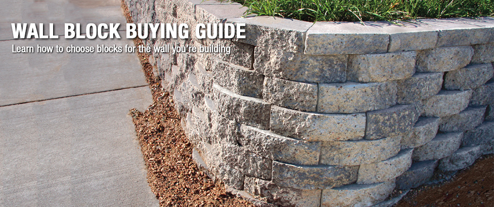 Retaining Wall Blocks From Menards : Wall block buying guide at menards?
