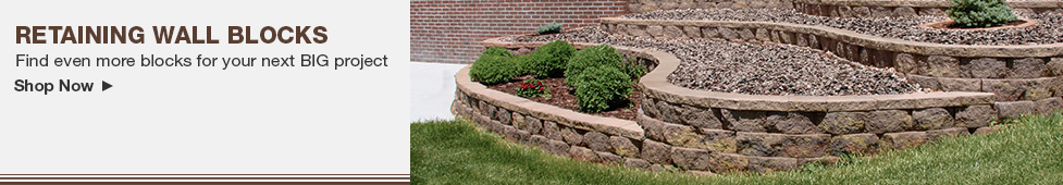 Landscaping Retaining Wall Blocks Menards : Wall block buying guide at menards?