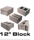 Twelve inch blocks