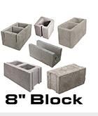 Eight inch blocks