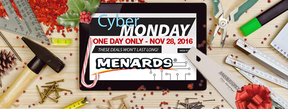 Menards Cyber Monday 2016