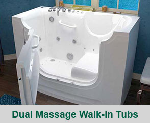 Dual Massage Walk-In Tubs