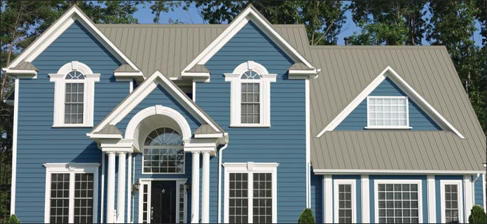 Beige Pro Rib And Slate Blue Siding At Menards 174